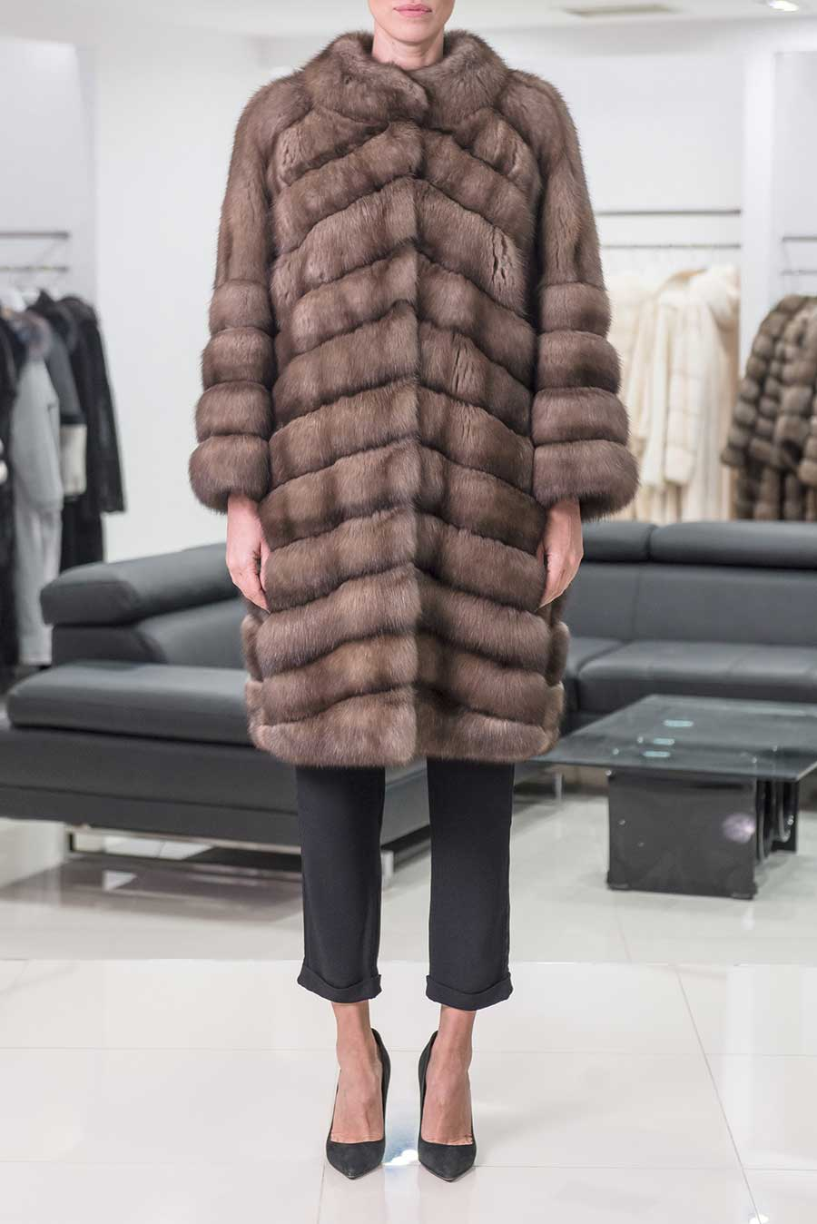 Tortora Grafite Russian Sable Fur, How Much Is A Sable Coat